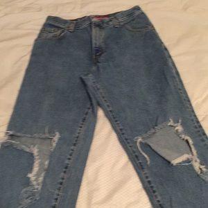 Levi's 550 distressed jeans